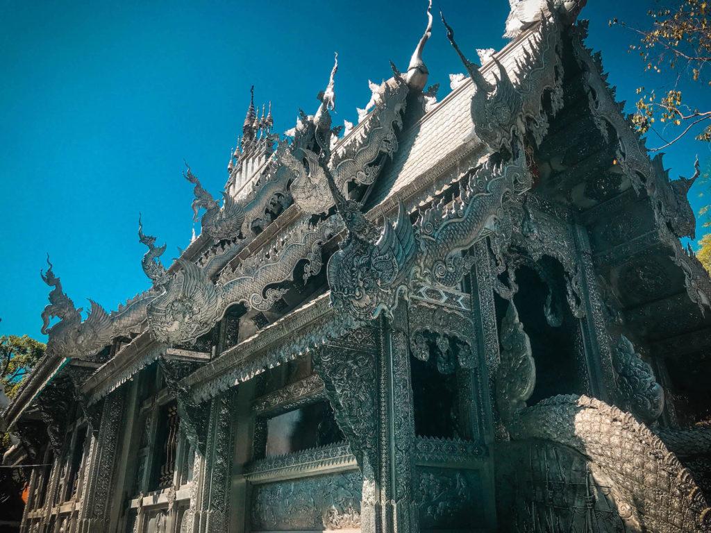 Templo de plata, templo esculpido en plata, Tailandia