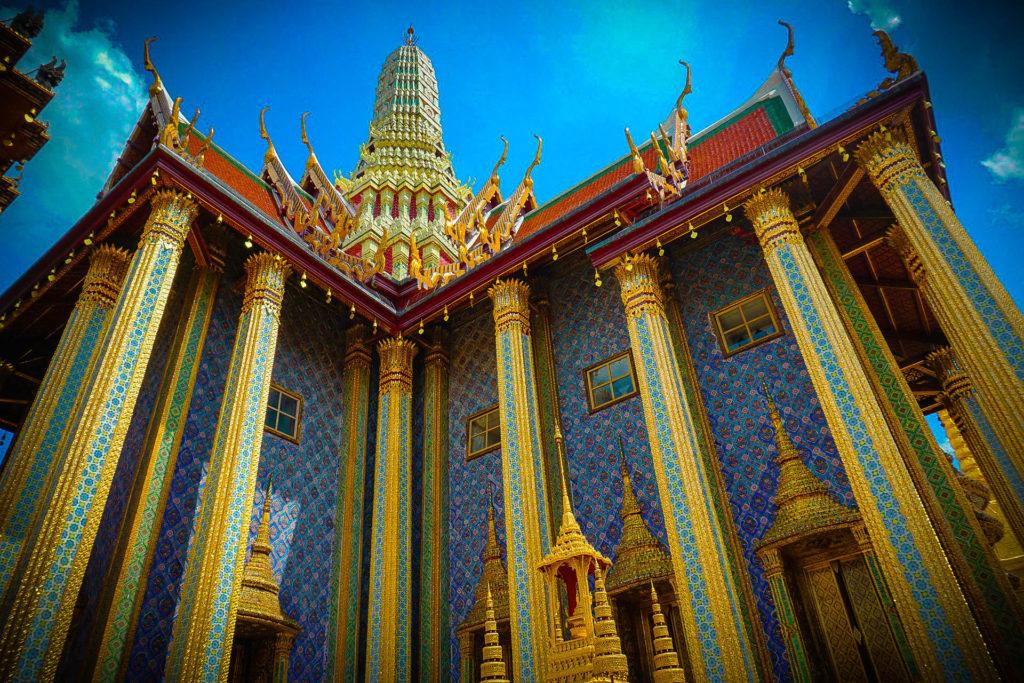 Templo Wat Phra Kaew, el templo del Buda de esmeralda, Tailandia