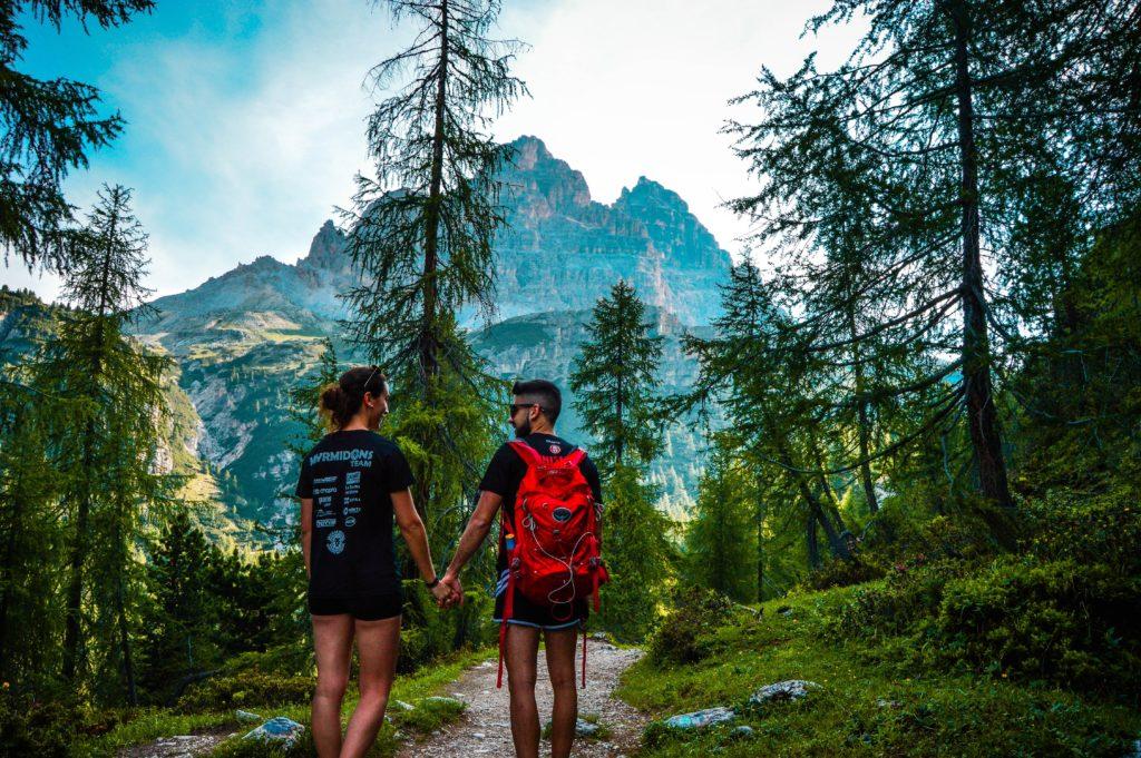 Camino de subida 3 cimas Lavaredo, Dolomitas