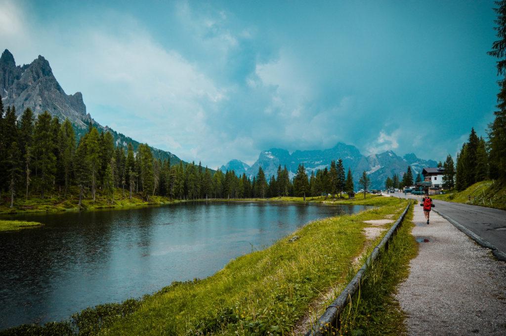 Llegada Lago Antorno, Dolomias