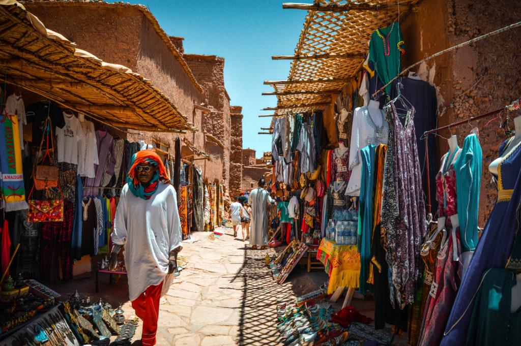 Calles Ait Ben Haddou, Marrakech
