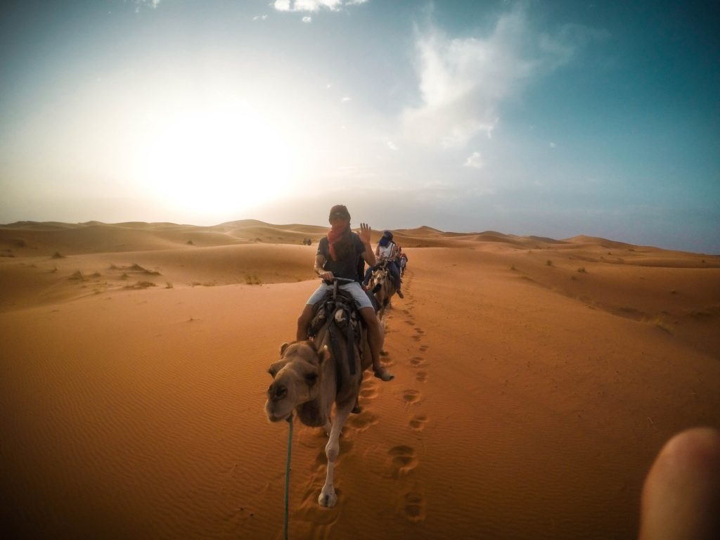 Camino al campamento, Merzouga, Marrakech