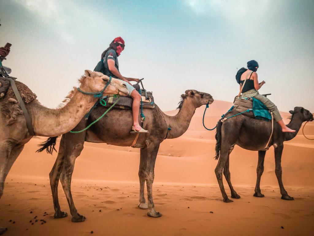 Desierto Merzouga con camellos, Marrakech