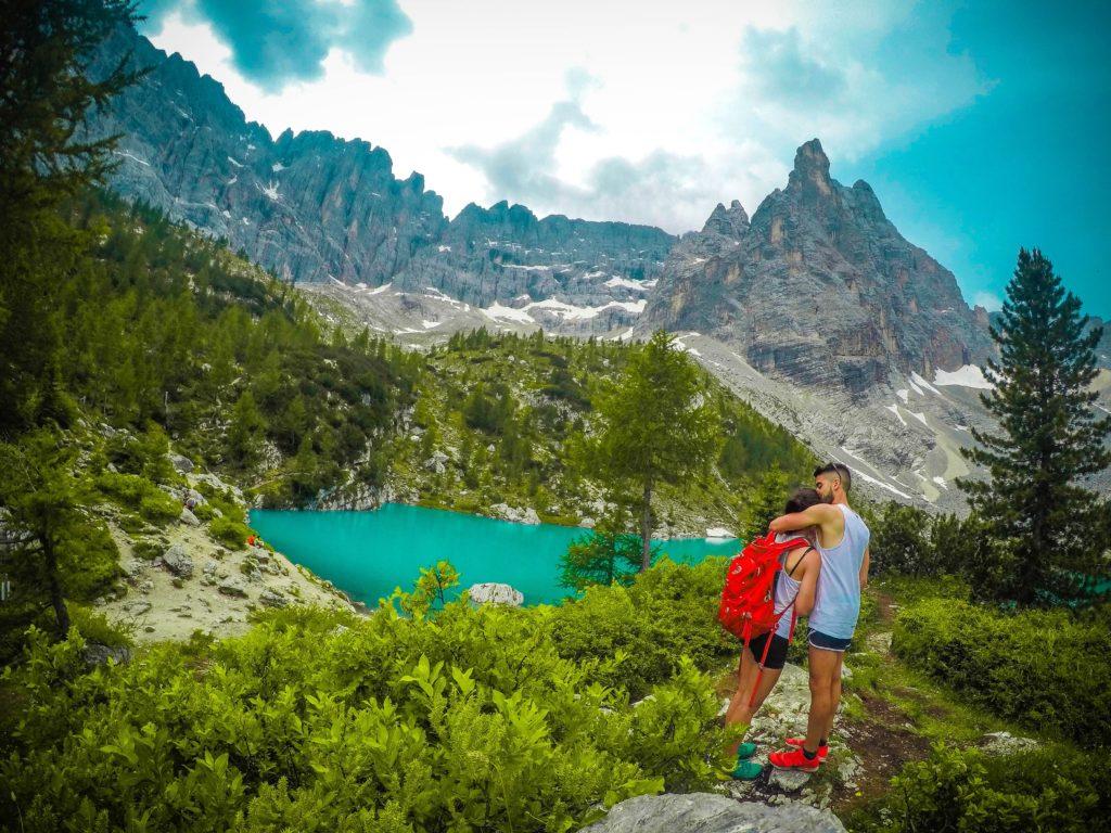 Lago Sorapis, Dolomitas.