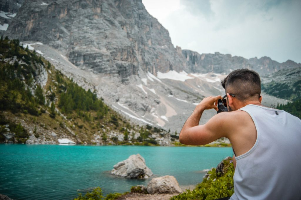 Agua Lago Sorapis, Dolomitas.