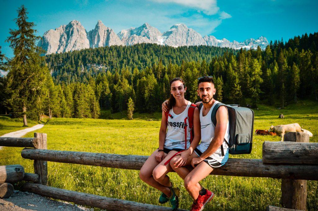 Inicio camino Lago Sorapis, Dolomitas.